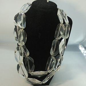 Jewelry - Clear Acrylic Bead double strand Necklace